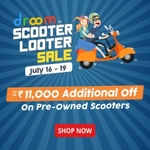 Upto Rs.11000 Additional Off on Pre-Owned Scooters (July 16-19)