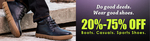 Get Upto 75% off on Boots, Casual, Sport shoes