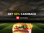 50% cashback on 1st food order from Zomato on Helpchat