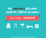 Get Free Rs.1000 Amazon Gift Card on all orders