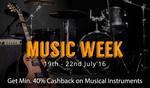 Upto 64% off + Minimum 40% cashback on Musical Instrument