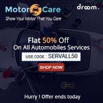 Droom: Flat 50% Off on all Automobile Services