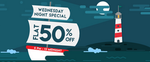 Jabong Wednesday Night Special : Flat 50% off on Branded Clothings