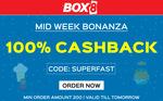 Get 100% cashback on minimum order of Rs.200