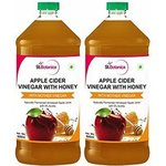 St.Botanica Apple Cider Vinegar with Mother Vinegar and Honey - 500 ml (Pack of 2)