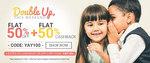 Flat 50% off + Flat 50% cashback on Baby clothing + 25% cashback with Paytm