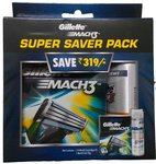 Gillette Mach3 Super Saver pack 8 cartridges with Free Gel 70g