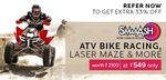 Smaaash - ATV Bike Racing, Laser Maze Voucher at Rs.549 worth of Rs.2100