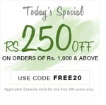 Get Rs.250 off on all orders above Rs1000 sitewide