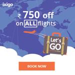 Flat Rs.750 CashBack on Domestic & International Flights