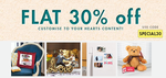 Get Flat 30% off on customise Content