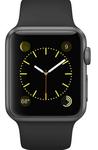 Apple Watch Sport Space Grey Aluminium Case Black Sport Band 42mm