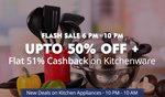 Kitchenware Upto 50% Off + 51% Cash Back low price