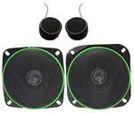 Samsonic Onmca_381 4 Inch Car Speaker (Set Of 2) & Tweeter