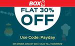 Flat 30% off on Food Orders