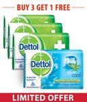 Buy Dettol Original Soap - 125 gm (Pack of 3) + Dettol cool Soap - 75 gm Free