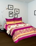 Tomatillo Double bedsheet and 2 pillow covers
