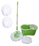 Easy Clean Green and White 8 Leter Magic Mop with 3 Extra Mop Heads ( Assorted Color)