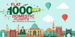 Flat Rs.1,000 off on domestic flights & Up to Rs.15,000 off on international flights + Mobikwik Cashback