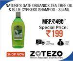Nature's Gate Organics Tea Tree Oil & Blue Cypress Shampoo