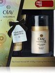 Olay Total Effects Day Cream Normal SPF15 (50g) - FREE Olay Foaming Face Wash 50g
