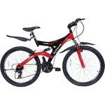 "Hero Octane DTB V1 21 Speed Bicycle – 26""(Black/Red)"