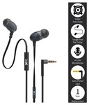 boAt bassheads 200 in ear wired with mic earphones black