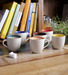 Cdi marble finish tea cup with wooden tray   set of six cdi marble finish tea cup with wooden tray   m7pxyv