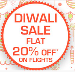 Flat 20% off on flights (Base Fare)