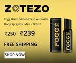 Fogg Black Edition Fresh Aromatic Body Spray For Men - 120ml