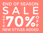 EOSS : Upto 70% off on New Fashion Styles