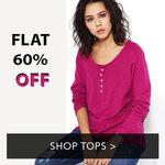 Flat 60% off on Tops & Kurtis