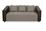@home by Nilkamal Brown Fabric Diana 3 Str 3 Seater Sofa