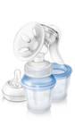 Philips Avent Comfort Manual Breast Pump with 3 Storage Cups