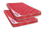 Bellz Red Poly Cotton Foam Mattresses - Buy 1 Get 1 Free