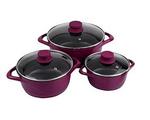 Wonderchef Ceramide 6 Pcs Cook & Serve Casserole Set - Pink