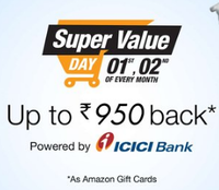 Amazon Super Value Day | 1st to 2nd December, 2016