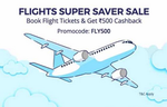 Get Flat Rs.500 Cashback on booking a flight