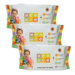 Mee Mee Caring Baby Wet Wipes with Aloe Vera (72 pcs) Pack of 3