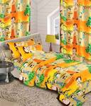 ComfortHome Kids Bedding Set--one single bed sheet + two curtain set
