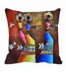 Me Sleep Brown Satin 16 x 16 Inch Cushion Cover
