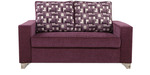 Lexus Two Seater Sofa in Purple Colour by ARRA discount offer