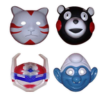 Darling Multicolor Plastic Face Mask - Pack Of 4