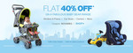 Flat 40% OFF on Baby Gear Products