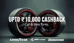 Get 30% cashback on Tyres discount offer