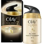 Olay Total Effects 7-in-One Anti-Ageing Day Cream with a Touch Of Foundation gentle SPF15, 50g