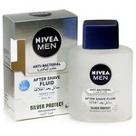 Nivea Men After Shave Liquid, Anti-Bacterial Silver Protection, 100ML