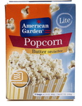 American Garden Microwave Popcorn, Butter 94 Percent Fat Free, 240g