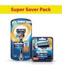 Gillette Fusion Flexball ProGlide Razor with 4 Flexball Blades combo