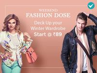 Shopclues : Weekend Fashion Dose - Starts @ Rs.89